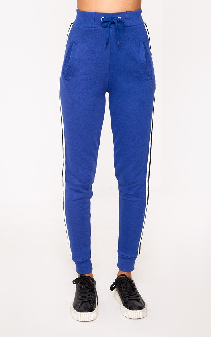 Cobalt Side Stripe Joggers 2