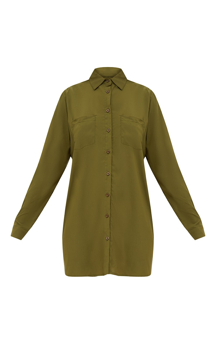 Effy Khaki Shirt Dress 3