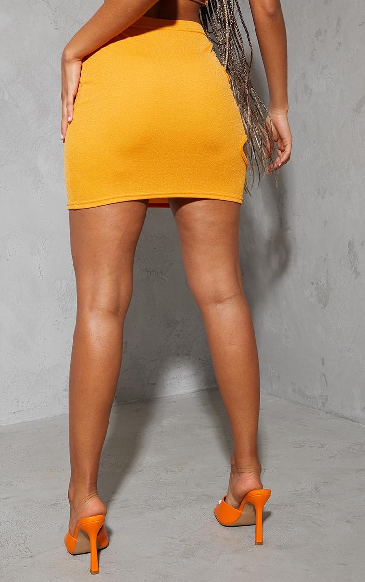 Orange Crepe Cut Out Mini Skirt 3