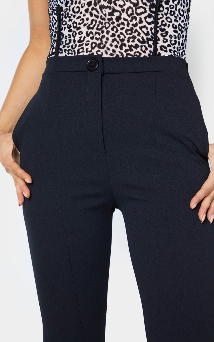 Tall Black  Pleat Detail Pants 5
