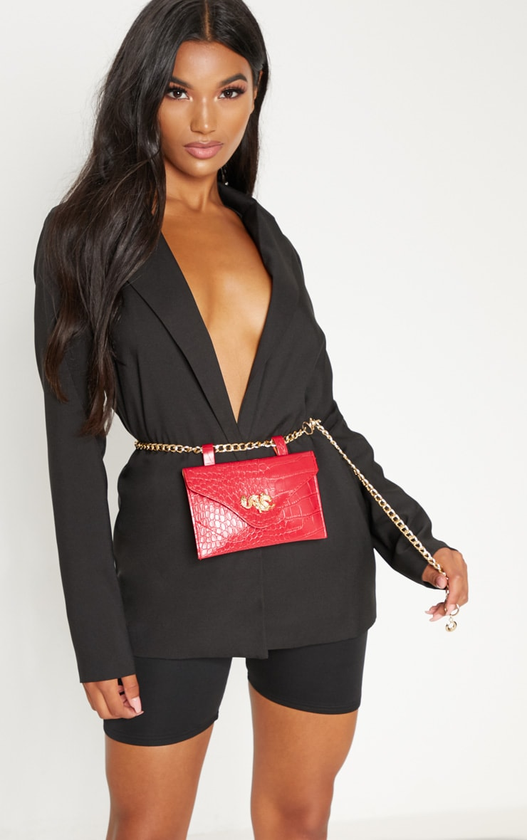 Red Dragon Chain Belted Bum Bag 5
