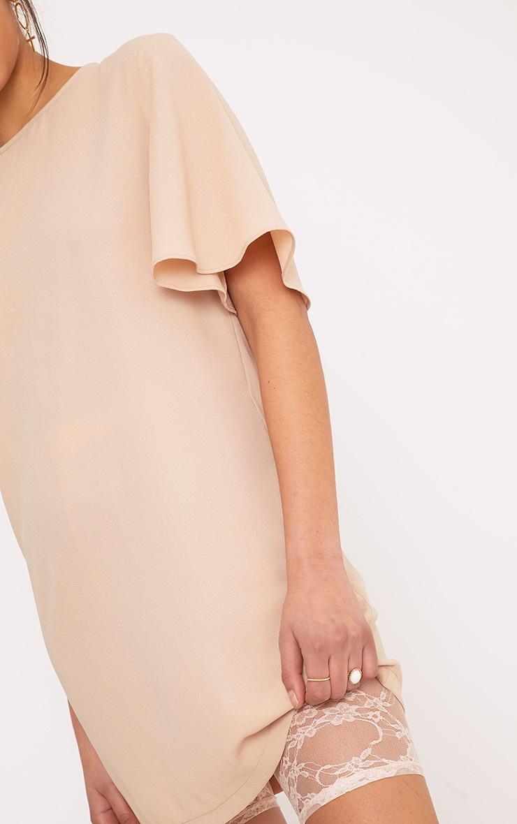 Ashanti Nude Short Sleeve Shift Dress 5