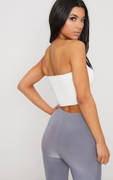 2 Pack Black and White Slinky Bandeau Crop Top  6