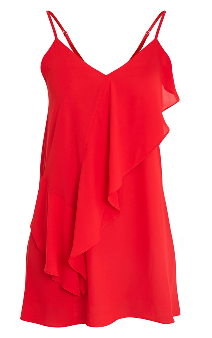Marline Red Frill Detail Swing Dress 3