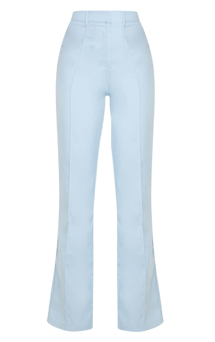 Baby Blue Anala High Waisted Straight Leg Pants 5