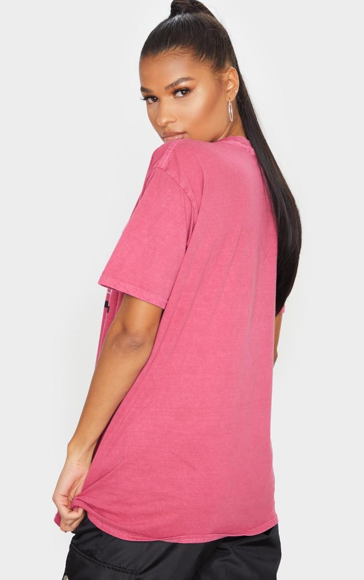 Tee-shirt rose à slogan Paris 1987 2