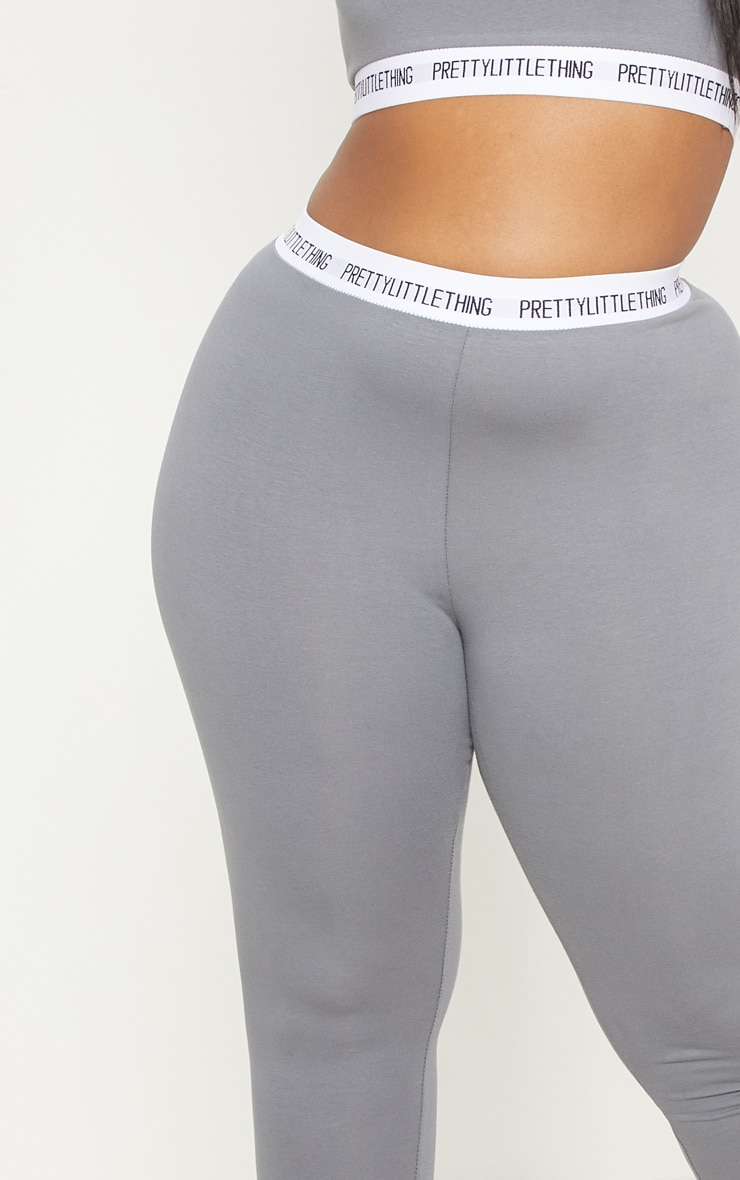 PRETTYLITTLETHING Plus Charcoal Grey Leggings 5
