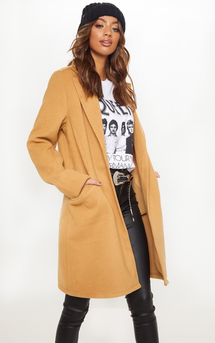 Camel Pocket Front Coat  4