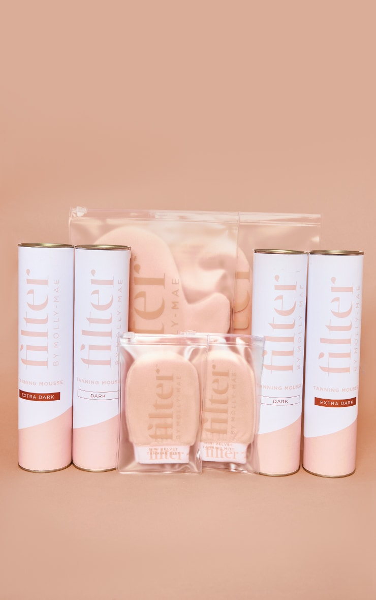 Filter by Molly Mae The Ultimate Dark & Extra Dark Tanning Mousse Set 1