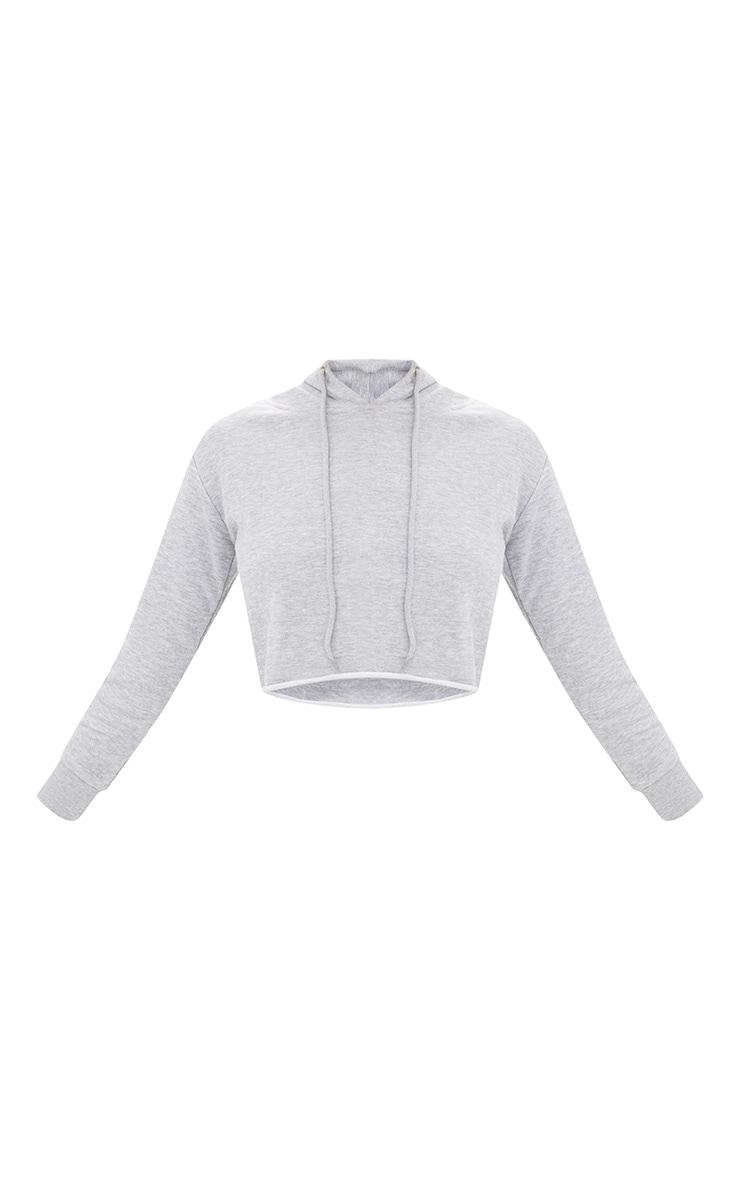 Grey Marl Side Stripe Hoodie 3