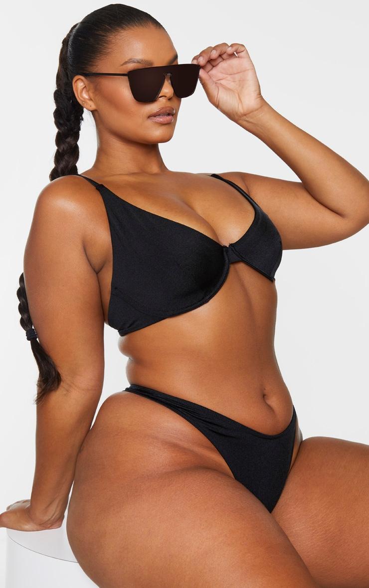 Plus Black Mix & Match Underwired Bikini Top 1