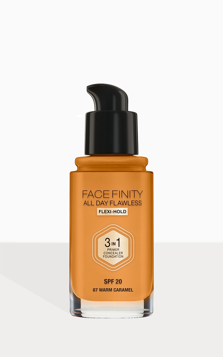 Max Factor Facefinity All Day Flawless Foundation Warm Caramel 3