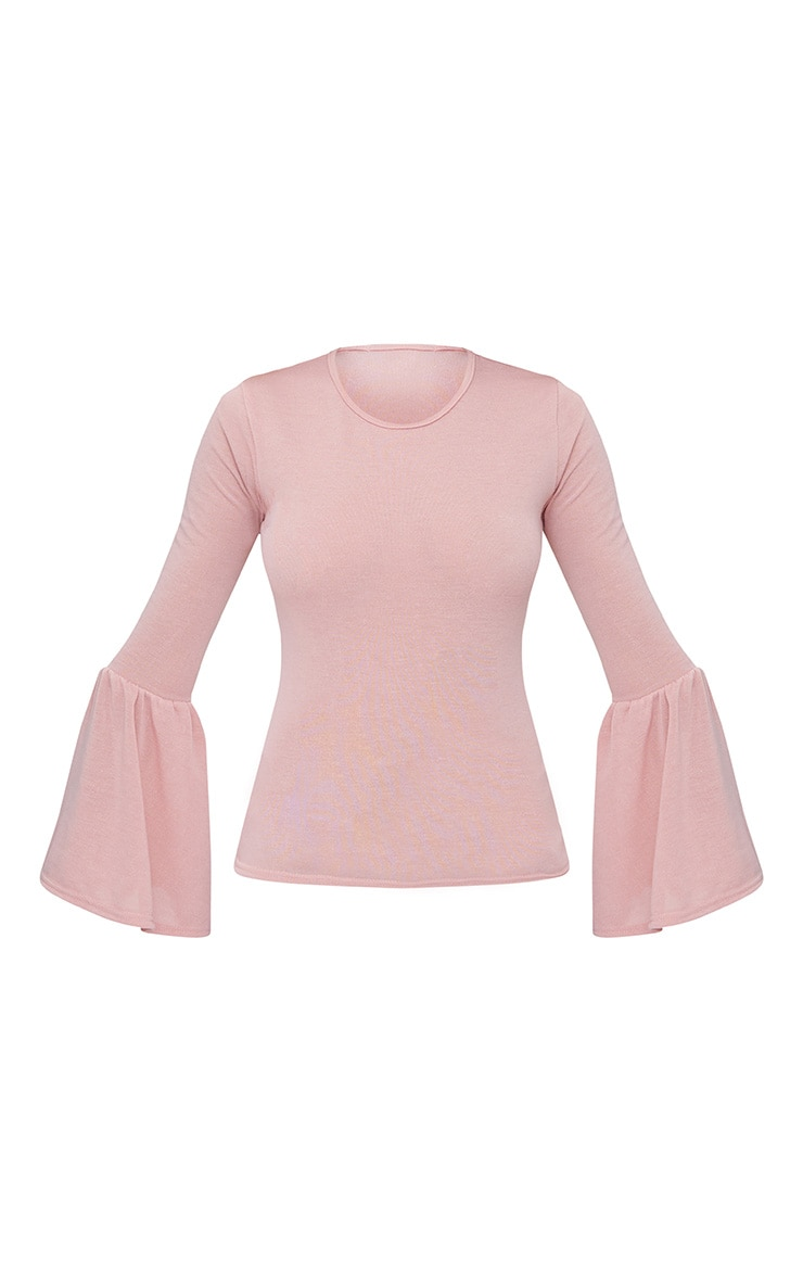 Pink Flare Sleeve Knitted Top 3