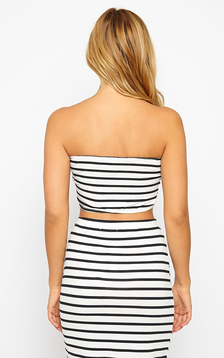 Kyllie Striped Bandeau Top 2