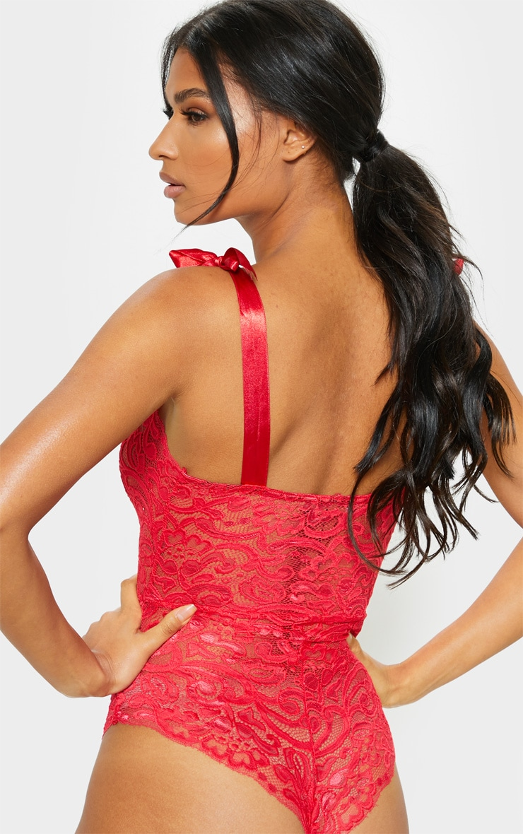 Red Tie Strap Lace Body 2