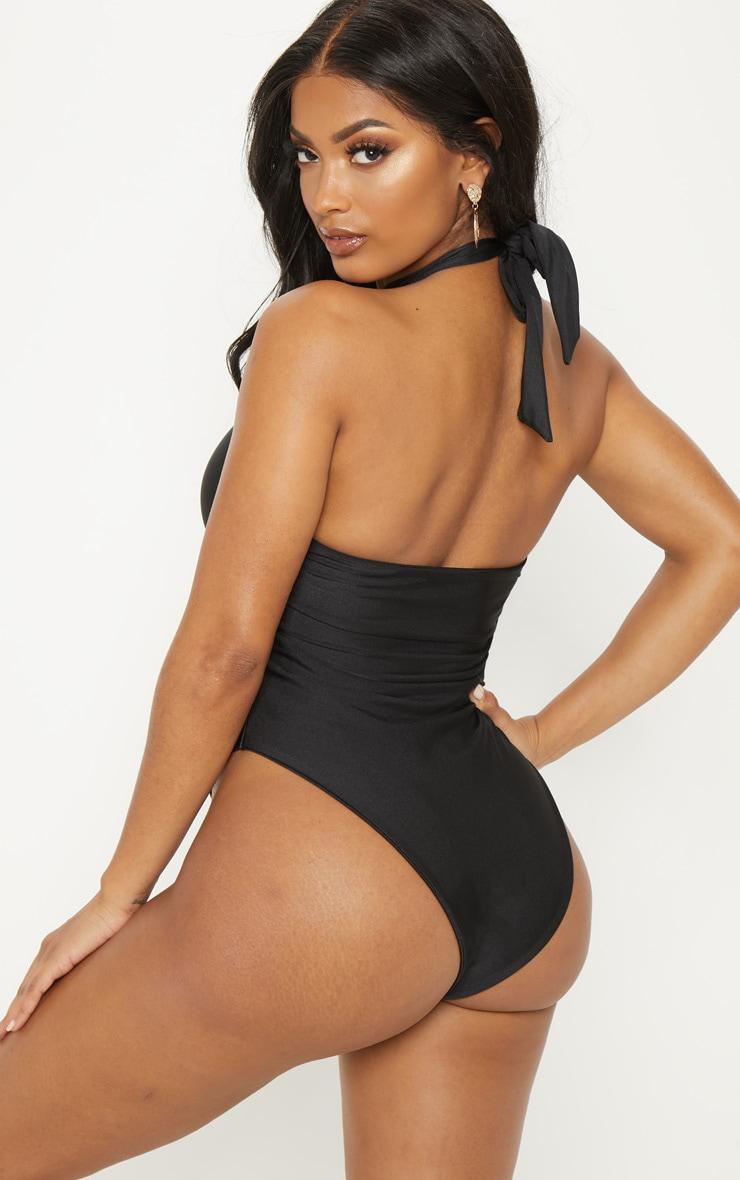 Shape Black High Neck Swimsuit 2