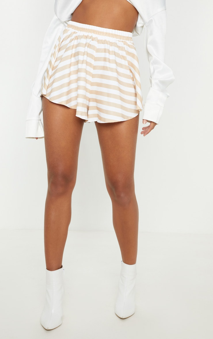Taupe Stripe Floaty Short 2