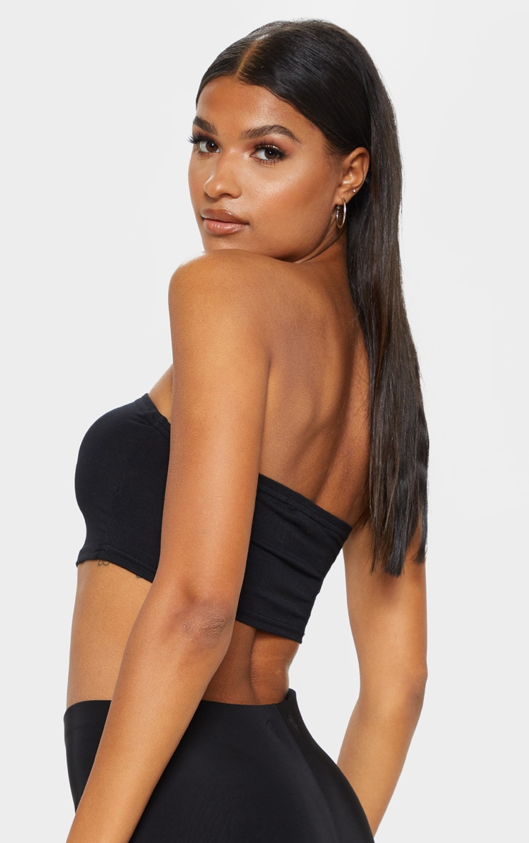 Basic Black Jersey Bandeau Top 2
