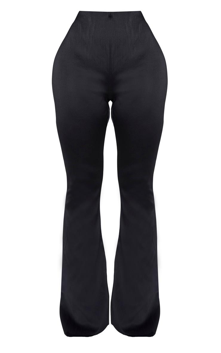 Shape Black Stretch Satin Flare Trouser 3