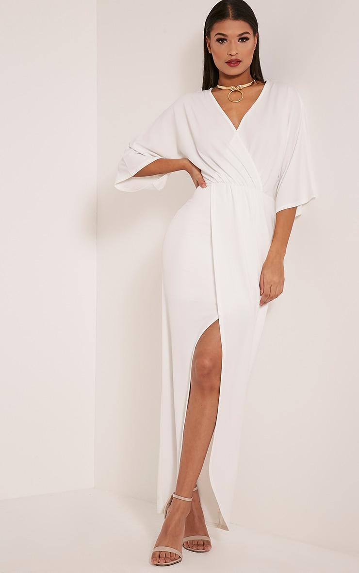 Archer robe maxi cape crème 1