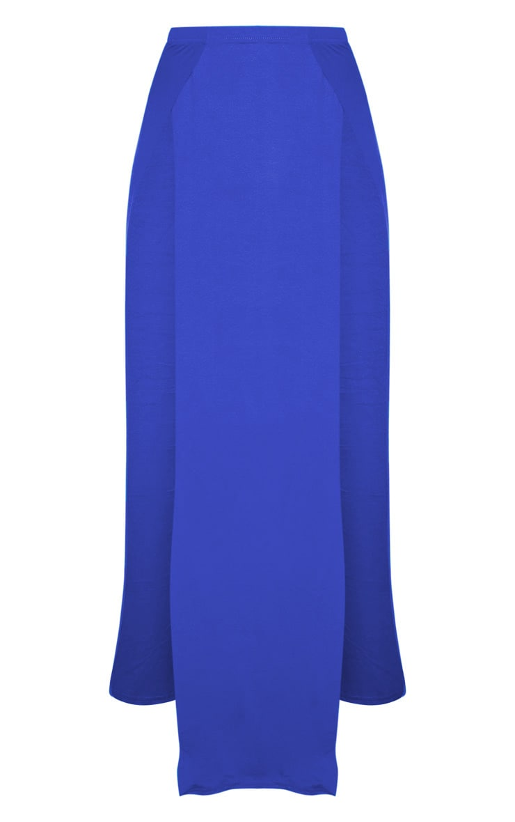 Cobalt Double Split Maxi Skirt 3