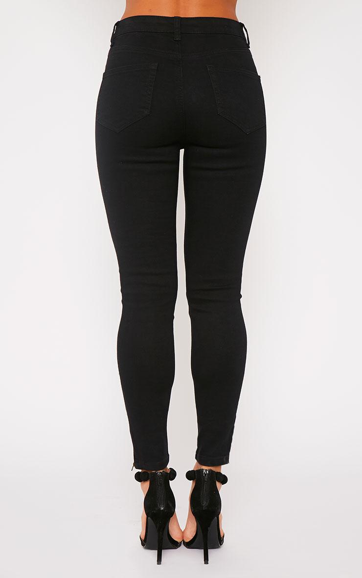 Hari Black Mid Rise Ankle Zip Skinny Jean 2