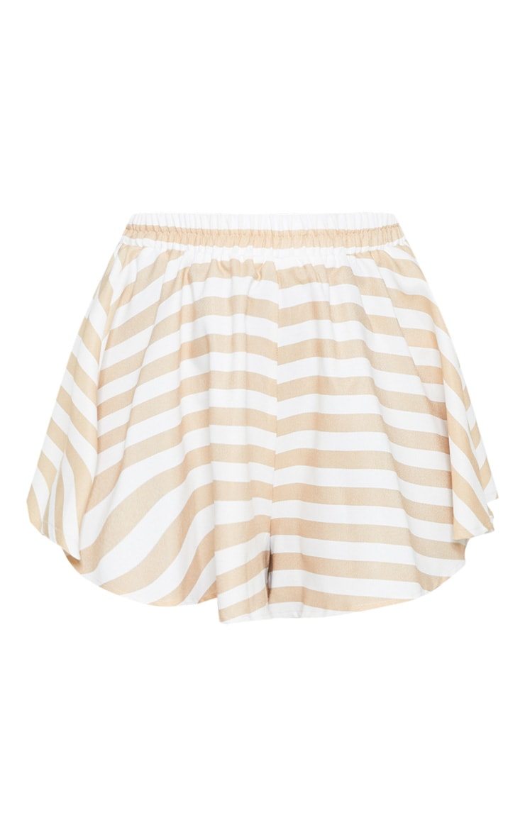Taupe Stripe Floaty Short 3
