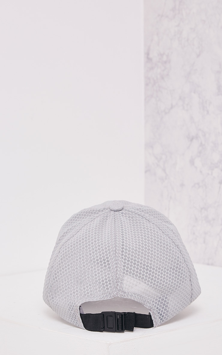 Guila Grey Mesh Baseball Cap 4