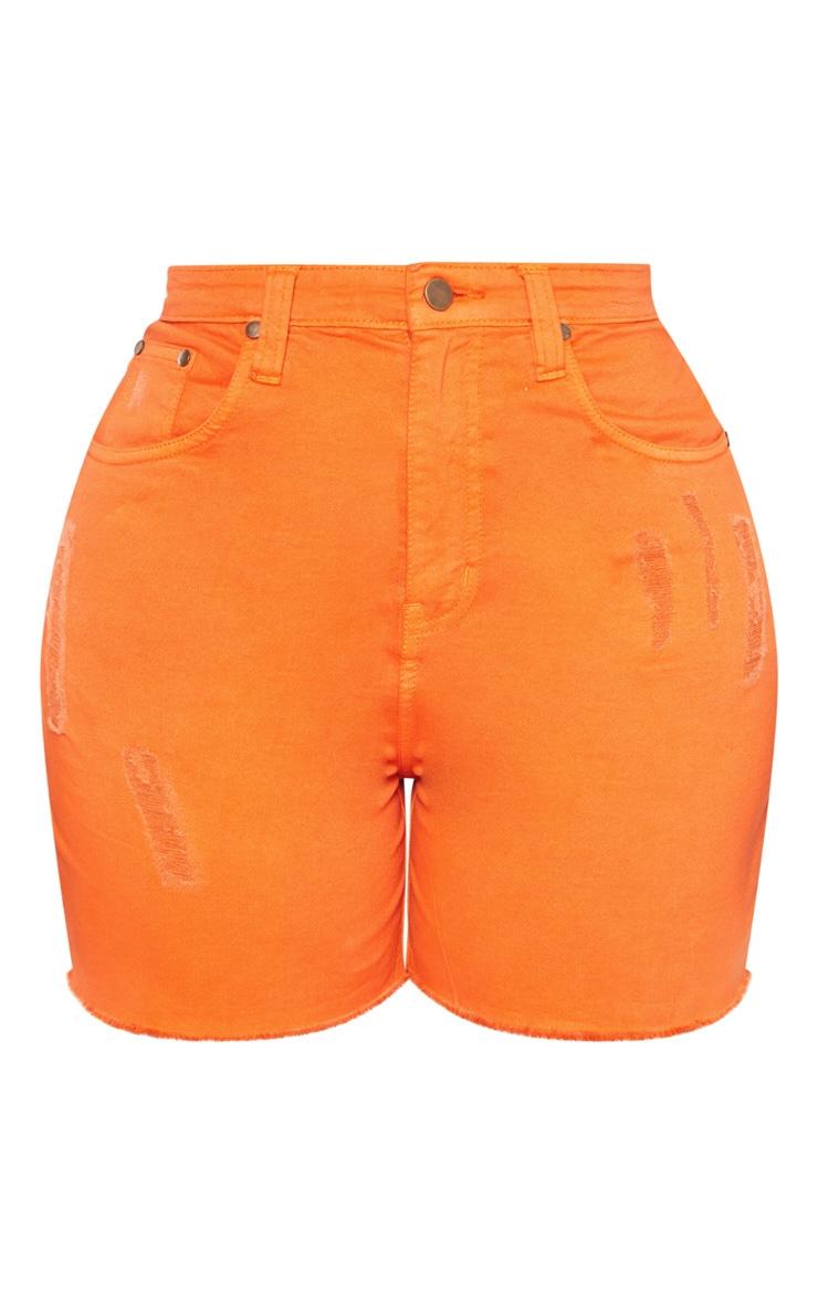 Shape Orange High Waist Denim Short 3