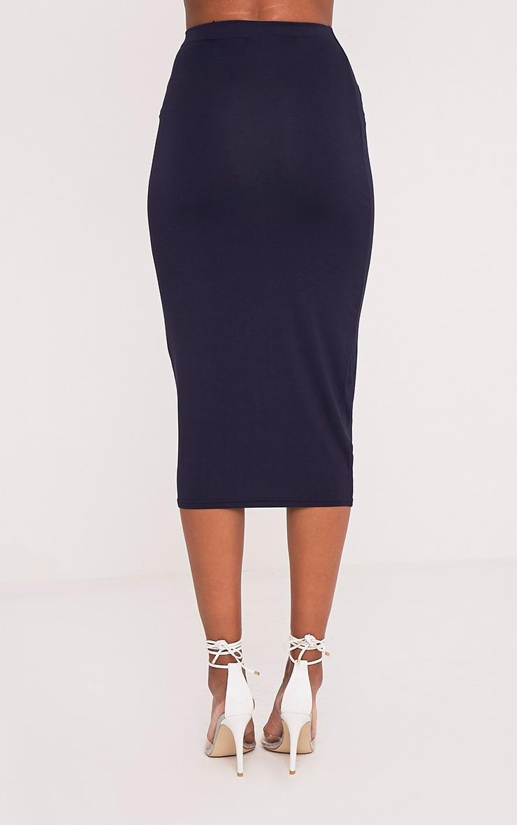 Basic jupe midi longue bleu marine 4