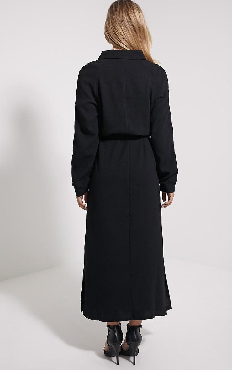 Ayla Black Longline Crepe Shirt Dress 2
