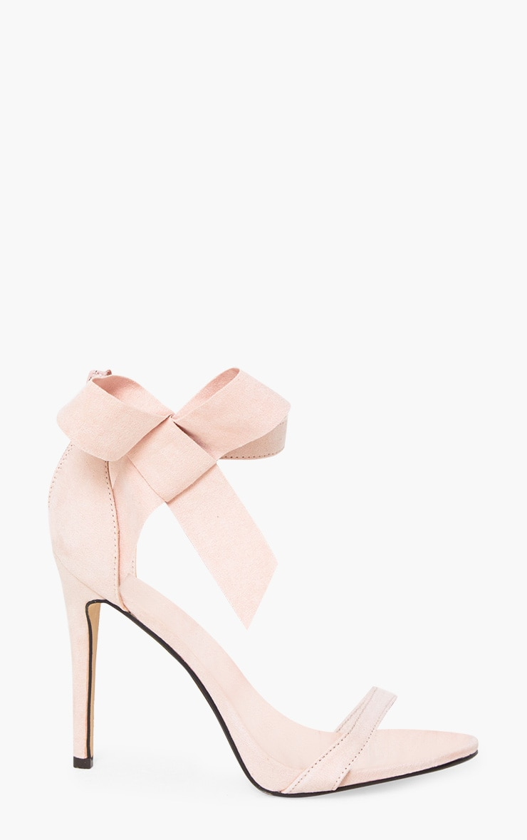 Blush Bow Detail Strappy Heels 3