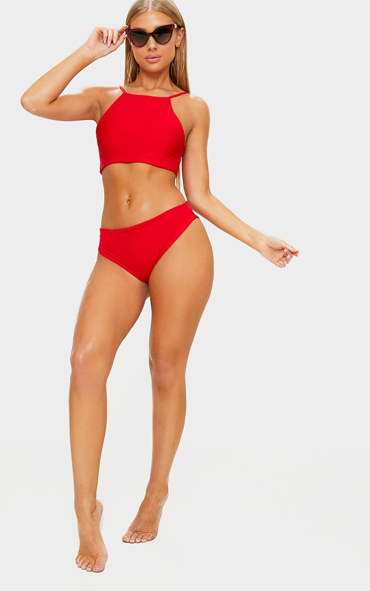 Red Mix & Match Cheeky Bum Bikini Bottom 4