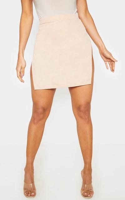 Stone Extreme Split Mini Skirt