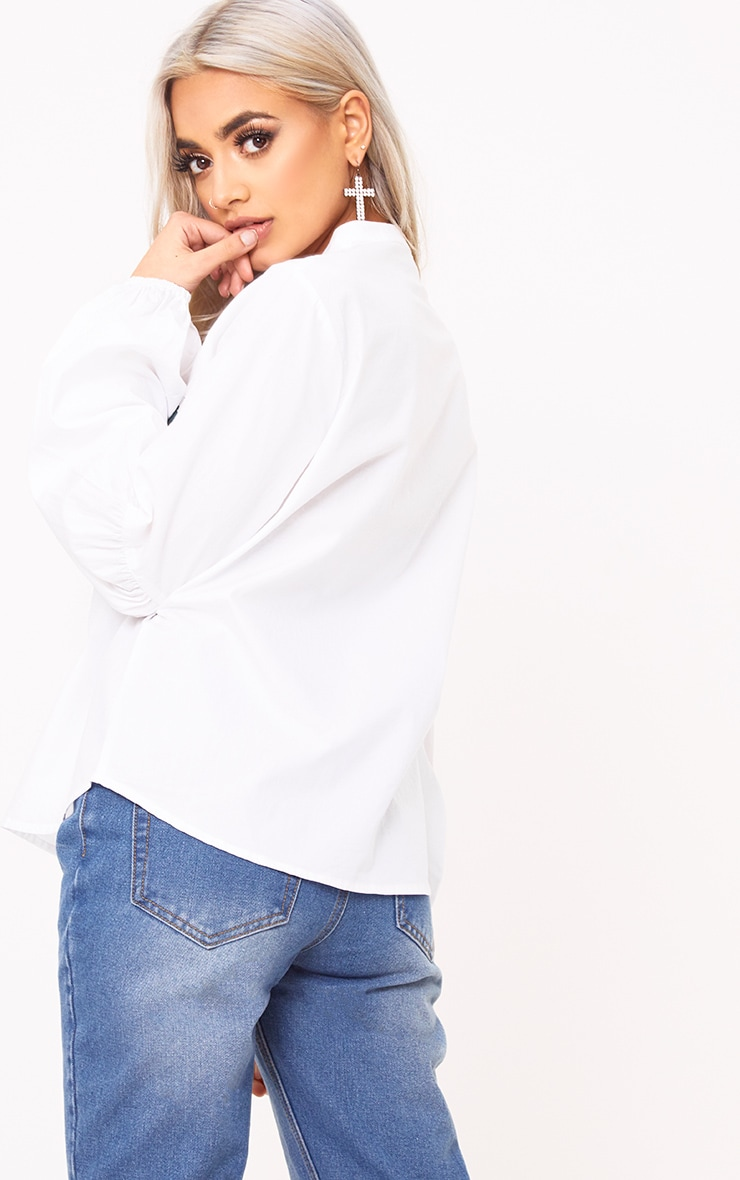 White Embroidered Shirt 2