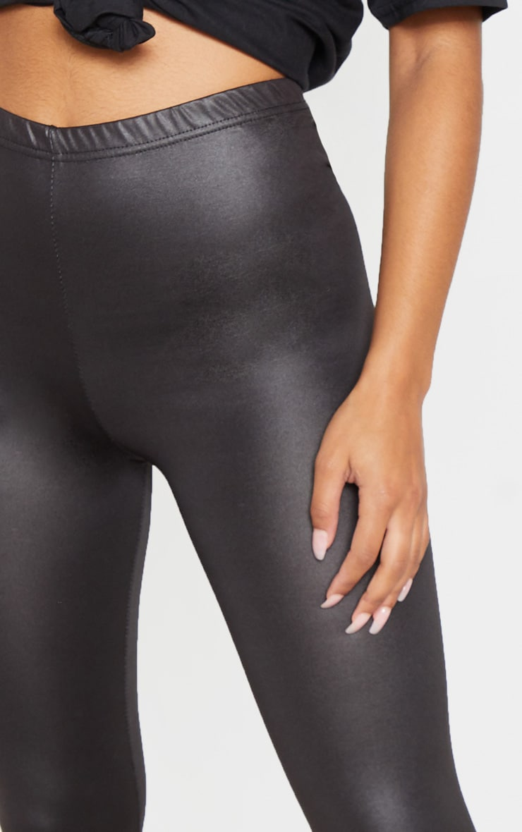 Savannah Black PU Leggings 6