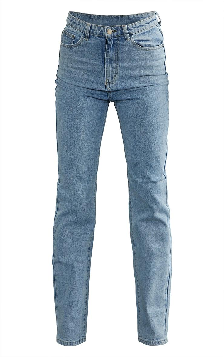 PRETTYLITTLETHING Tall Light Blue Straight Leg Jeans 5