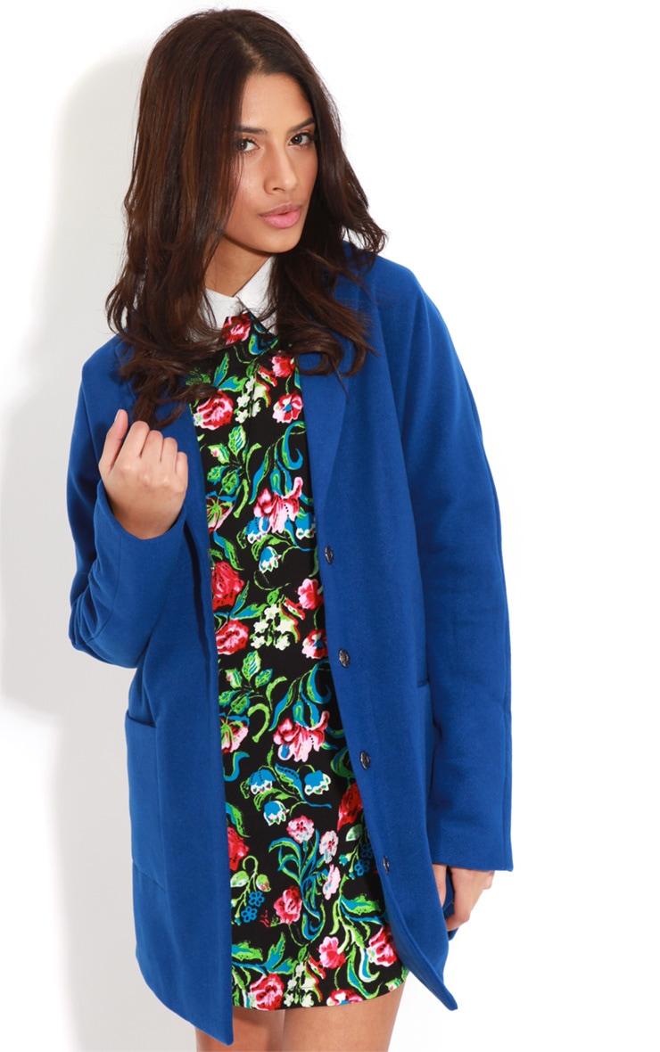 Hope Cobalt Oversized Boyfriend Blazer Coat  4