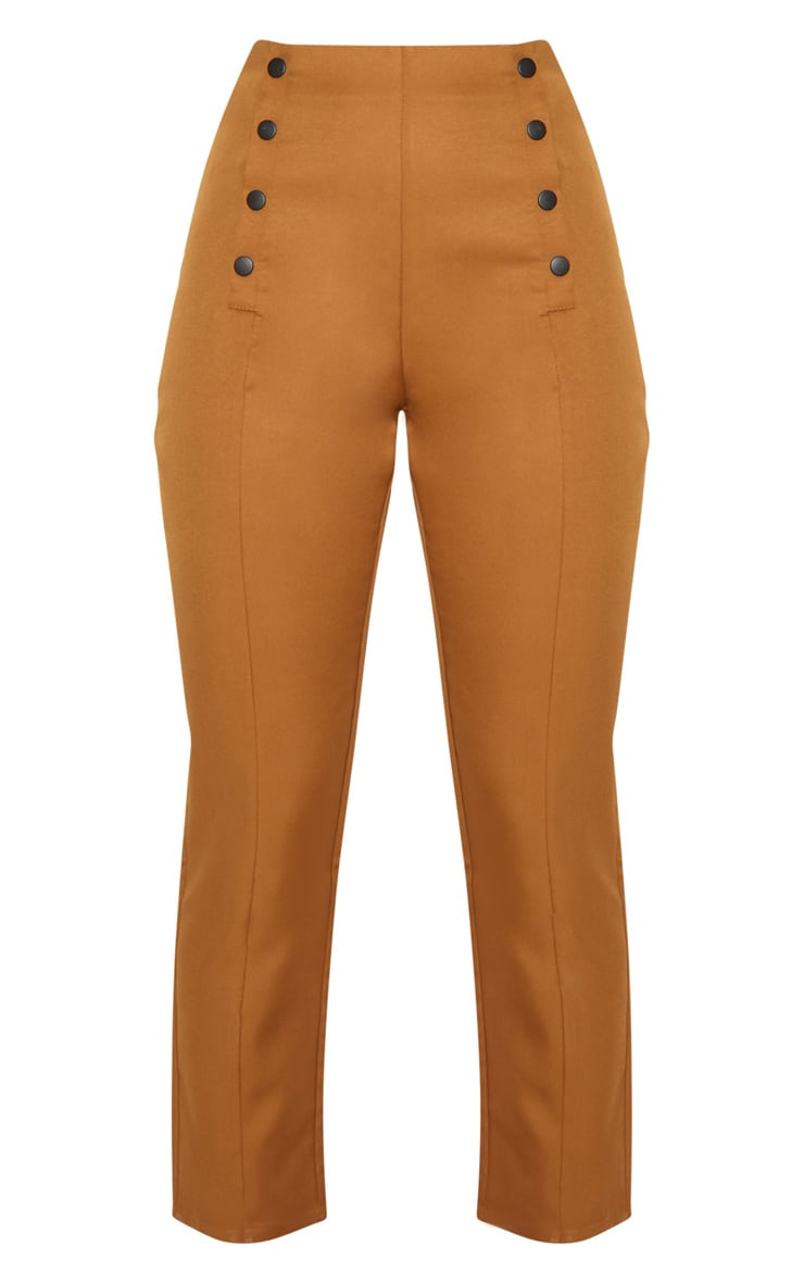 Tobacco Popper Seam Detail Skinny Pants 3