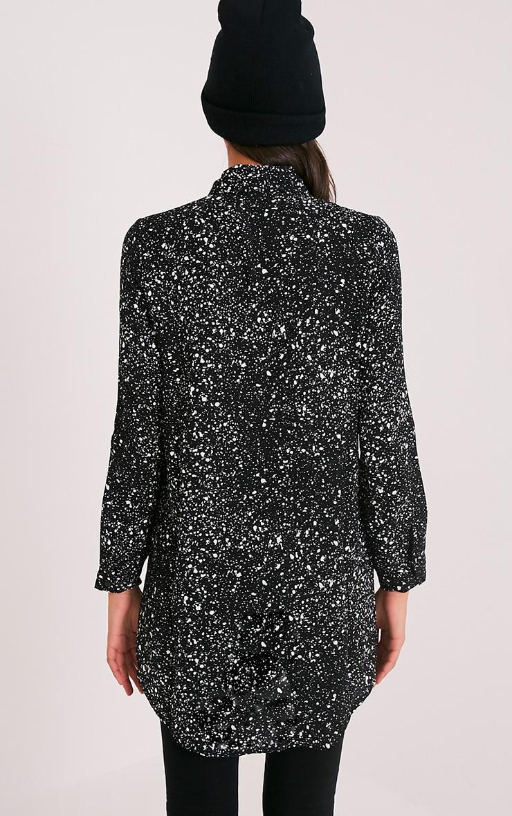 Sia Black Oversized Paint Effect Shirt 2
