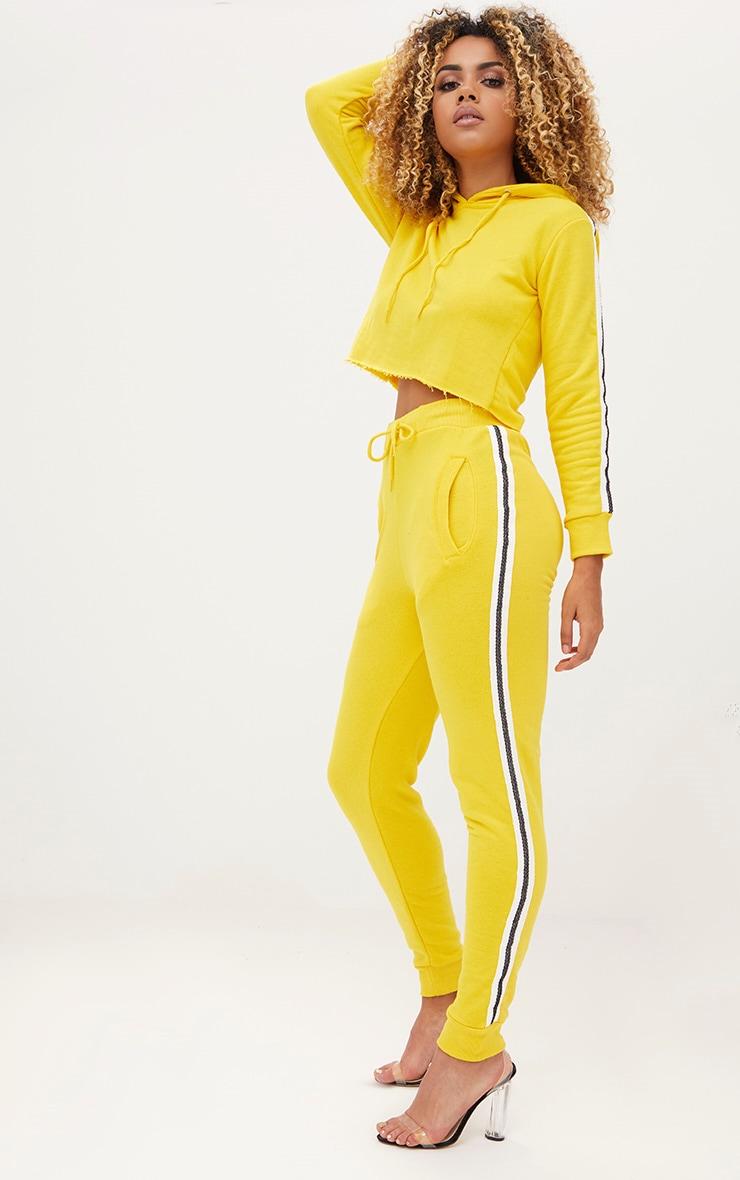 Yellow Side Stripe Joggers 1