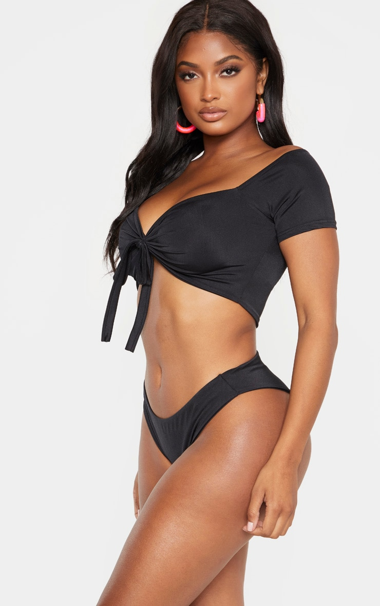 Shape Black High Rise Bikini Bottoms 2