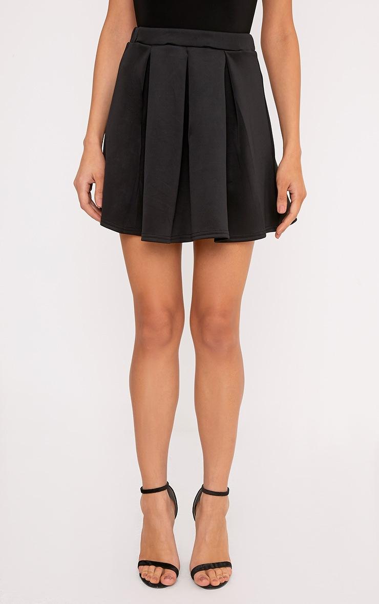 Rosabela Black Box Pleat Skater Mini Skirt  2