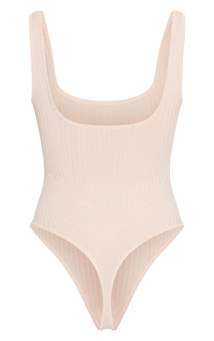 Blush Rib Scoop Neck Sleeveless Bodysuit 4