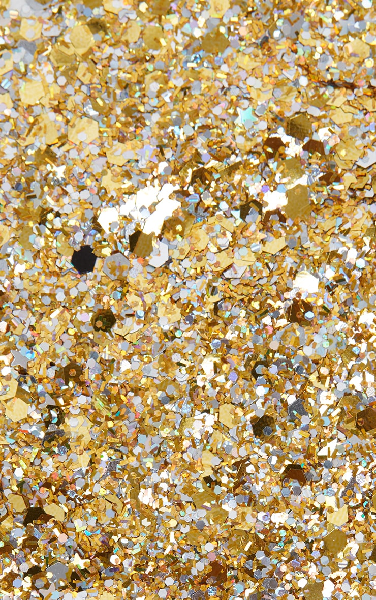 PRETTYLITTLETHING Chunky Gold Glitter 1