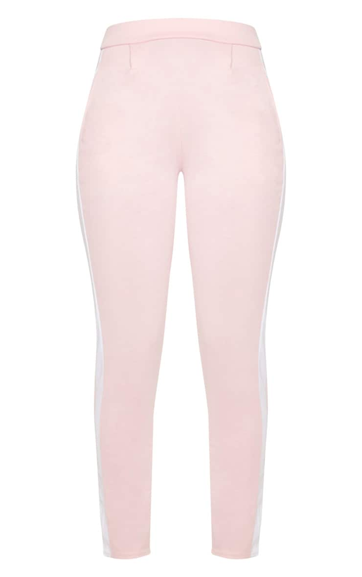 Pink Ponte Contrast Side Stripe Trouser   3