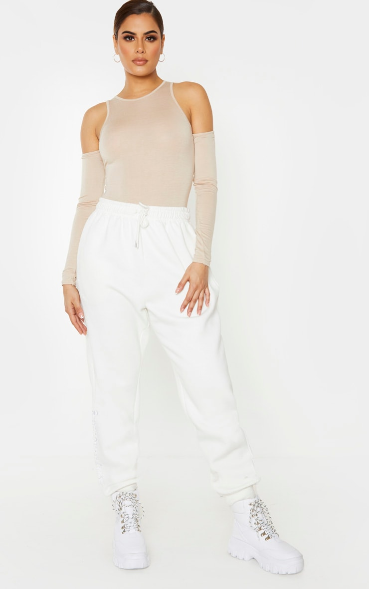 Tall Stone Jersey Cut Out Shoulder Bodysuit 6
