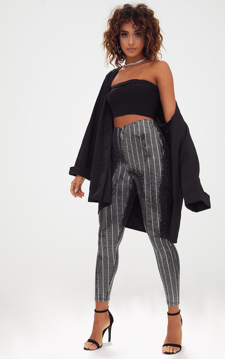 Black Disco Sequin Skinny Trousers 1