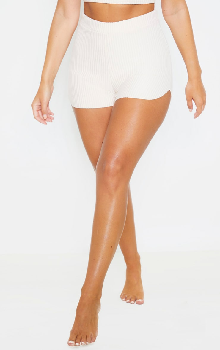 Nude Bonded Rib Shorts 2