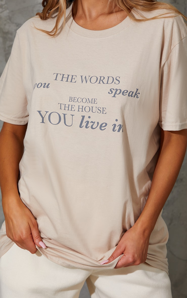Sand Words You Speak Printed T Shirt 4